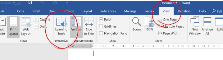 taskbar word view